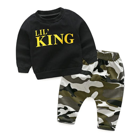 Lil King: Top & Pants Set - Little Mr & Mrs Cheeky Pty Ltd
