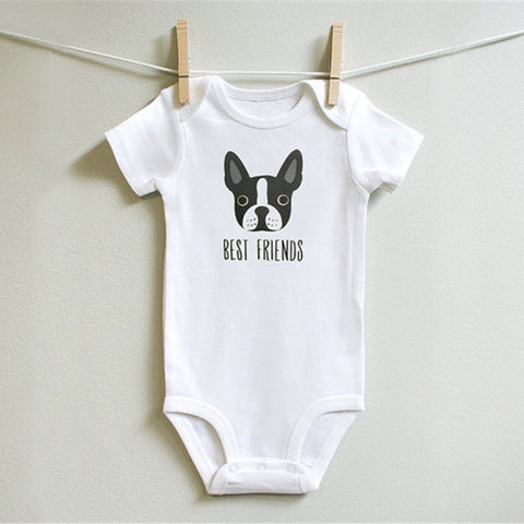My dog and I against the world: Best Friends Romper - Little Mr & Mrs Cheeky Pty Ltd