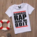 Gangsta Rap Made Me Do It - Kids Tees - Little Mr & Mrs Cheeky Pty Ltd