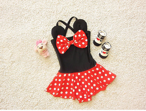 Oh Sweet Minnie: Mini 1-piece Bikini Set - Little Mr & Mrs Cheeky Pty Ltd