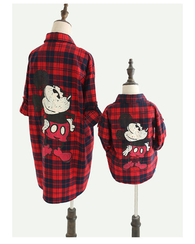 Red Checks Vintage: Mickey Mummy & Me - Matchy Matchy - Little Mr & Mrs Cheeky Pty Ltd