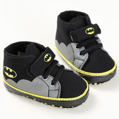 Bat Baby - Grey & Black High Tops - Little Mr & Mrs Cheeky Pty Ltd