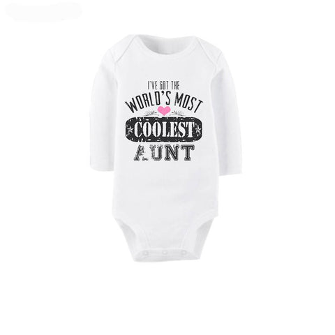 I've got the world's most coolest Aunt Romper - Little Mr & Mrs Cheeky Pty Ltd