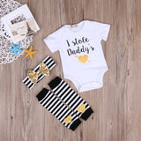 I Stole Daddy's Heart - Romper Set (Order by 21/8 for Father's Day) - Little Mr & Mrs Cheeky Pty Ltd
