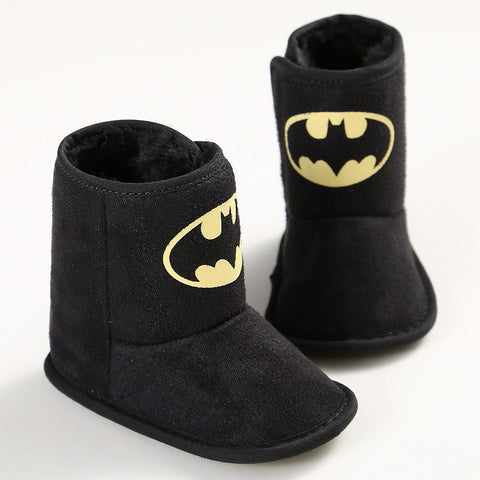 Bat Baby Black Booties - Little Mr & Mrs Cheeky Pty Ltd