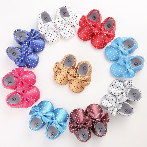 Polka Moccasins - Little Mr & Mrs Cheeky Pty Ltd