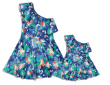 Matching Mummy + Me Blue Floral Dresses (Set of 2)