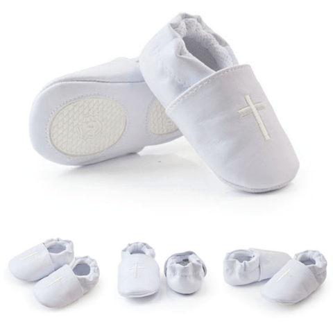 Christening Booties - White - Little Mr & Mrs Cheeky Pty Ltd
