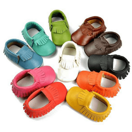 Moccasins - Assorted Colours - Little Mr & Mrs Cheeky Pty Ltd
