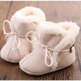 Sheep Booties: Red & Beige - Little Mr & Mrs Cheeky Pty Ltd