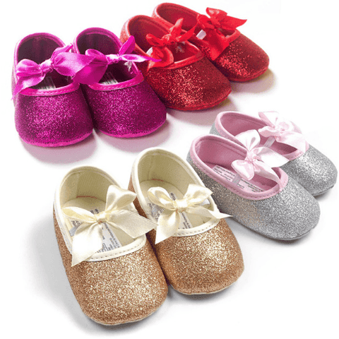 Glitter Ballets: Gold, Silver, Pink, Red - Little Mr & Mrs Cheeky Pty Ltd