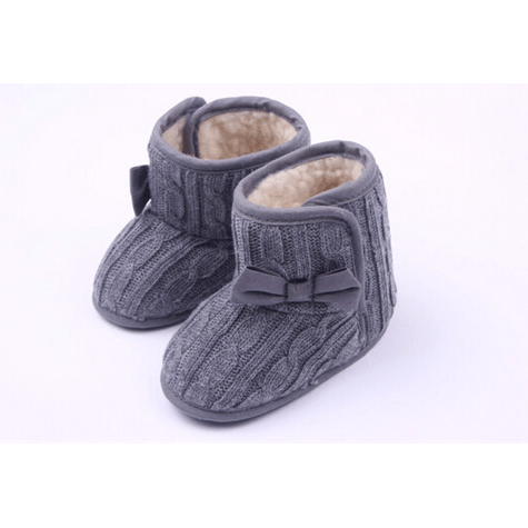 Knit Booties: Red, Brown & Grey - Little Mr & Mrs Cheeky Pty Ltd