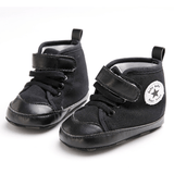 Black on Black High Tops - Little Mr & Mrs Cheeky Pty Ltd