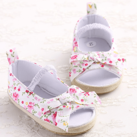 Sweet Floral Sandals - Little Mr & Mrs Cheeky Pty Ltd