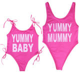 Yummy Mummy + Yummy Baby Bikini Matching Swimsuit Set