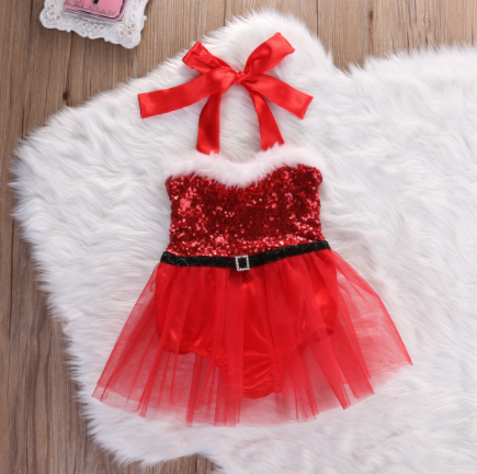 Little Miss Claus: Christmas Romper Set - Little Mr & Mrs Cheeky Pty Ltd