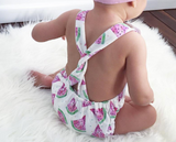 Little Miss Daisy: Watermelon Romper Set