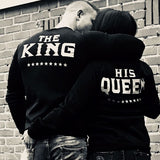 His Queen Sweater (Black or Grey) - Little Mr & Mrs Cheeky Pty Ltd