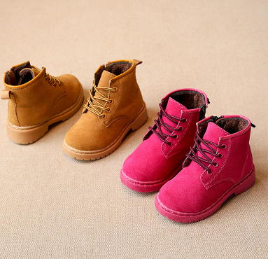 Workers Boots Suede (Pink + Mustard) - Toddler - CLEARANCE