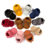 Suede Moccasins with Lace