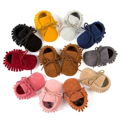 Suede Moccasins with Lace - Little Mr & Mrs Cheeky Pty Ltd