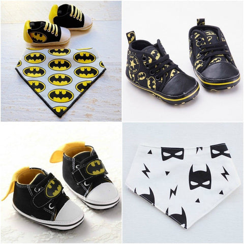 Bat Baby High Tops + Bib - Little Mr & Mrs Cheeky Pty Ltd