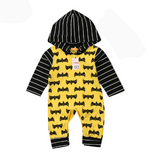 Batman Hoodie Romper - Little Mr & Mrs Cheeky Pty Ltd
