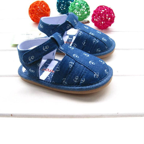 Anchor Sandals - Hard Soles - Little Mr & Mrs Cheeky Pty Ltd