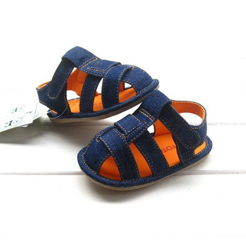 Boys Denim Sandals - Hard Soles - Little Mr & Mrs Cheeky Pty Ltd