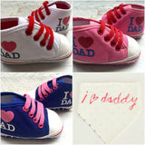 I Love Daddy High Tops & Bib! - Little Mr & Mrs Cheeky Pty Ltd