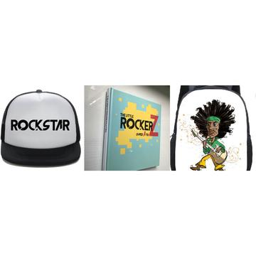 Ultimate RockerZ Set : Little RockerZ Kids Book + Rockstar Backpack + Rockstar Hat - Little Mr & Mrs Cheeky Pty Ltd