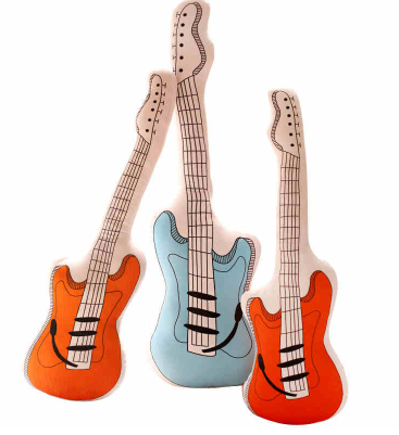 Guitar Pillows - Little Mr & Mrs Cheeky Pty Ltd