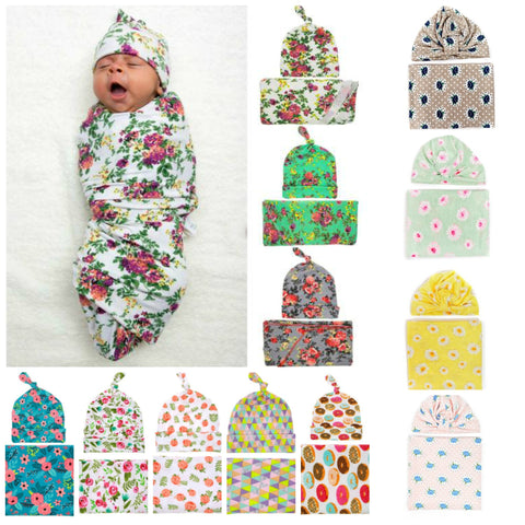 Swaddle Blanket & Beanie - Little Mr & Mrs Cheeky Pty Ltd