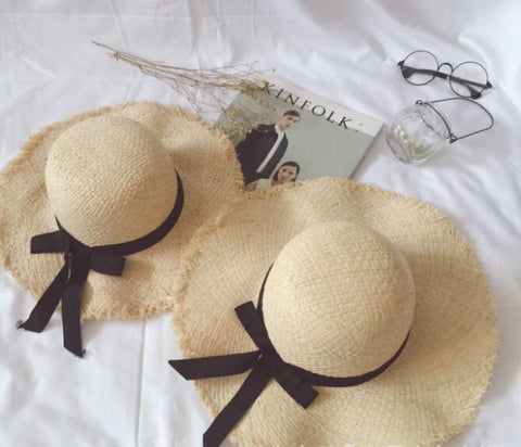 Beach Straw Hats: Matching Mum + Kids Set