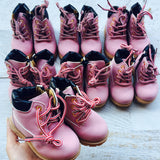 PINK Workers Boots - Toddler: Matchy Matchy - Little Mr & Mrs Cheeky Pty Ltd