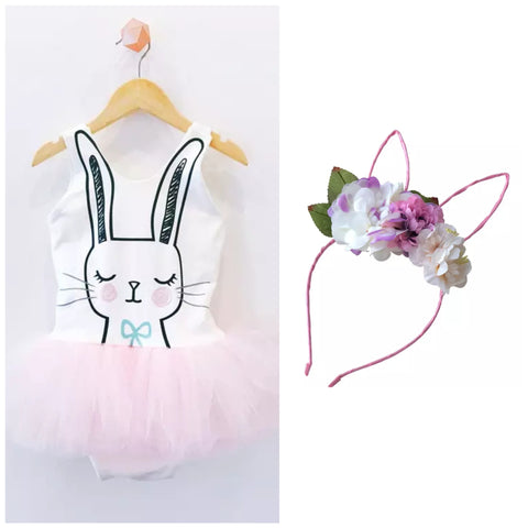 Easter Bunny Tutu + Headband - Little Mr & Mrs Cheeky Pty Ltd