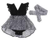 Twinning Leopards: Big Sister + Little Sister Set: Matchy Matchy - Little Mr & Mrs Cheeky Pty Ltd