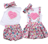 Twinning Pink Hearts: Big Sister + Little Sister Set of 2 - Little Mr & Mrs Cheeky Pty Ltd