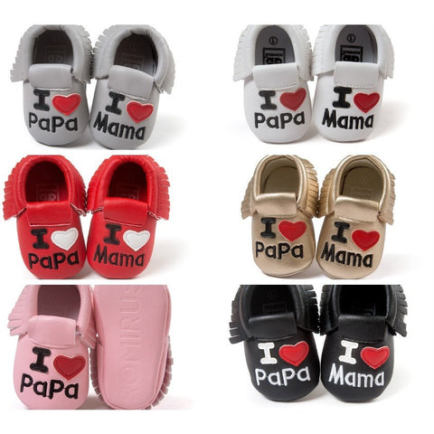 I Love Mama & Papa Mocs - Little Mr & Mrs Cheeky Pty Ltd