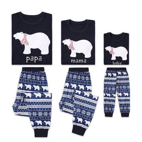 Papa, Mama + Baby Bear Matching Pyjama Sets (Mum + Baby Set) - Little Mr & Mrs Cheeky Pty Ltd