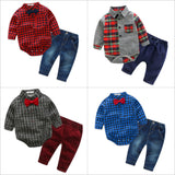 Plaid Top + Pants Set: Various Styles - Little Mr & Mrs Cheeky Pty Ltd