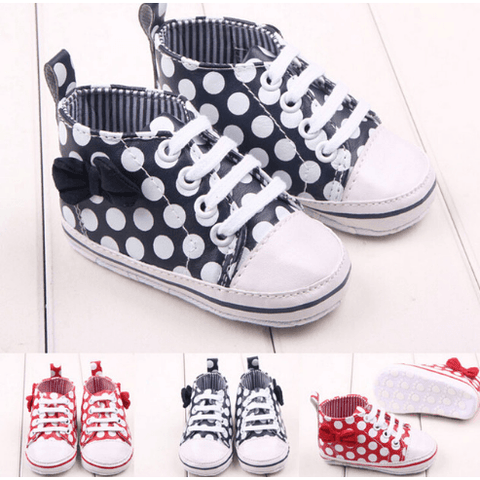 Polka High Tops - Little Mr & Mrs Cheeky Pty Ltd