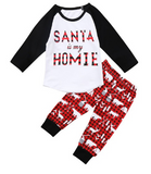 Santa is my Homie Set - Little Mr & Mrs Cheeky Pty Ltd