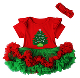Christmas Tree Ruffle Romper Set