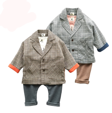 Old Timer Boys Suit - Little Mr & Mrs Cheeky Pty Ltd