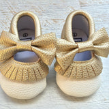 Moccasins with Bows - Assorted Colours - Little Mr & Mrs Cheeky Pty Ltd