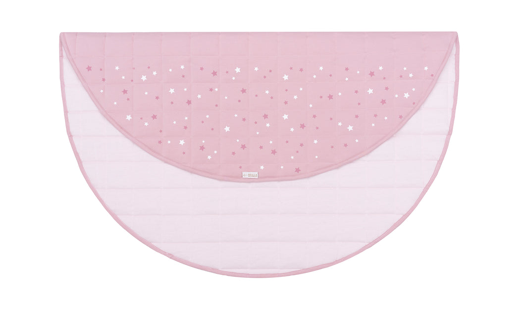Round Play Mat with Star Print - Blush