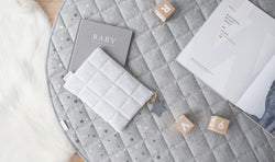 Playmat + Nappy Clutch Written in the Stars Baby Bundle - Grey