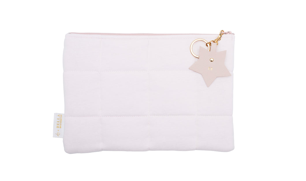 Nappy Clutch with Star Charm  - Light Pink