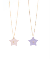 Best Friend necklace - set of 2 Blush and Lilac